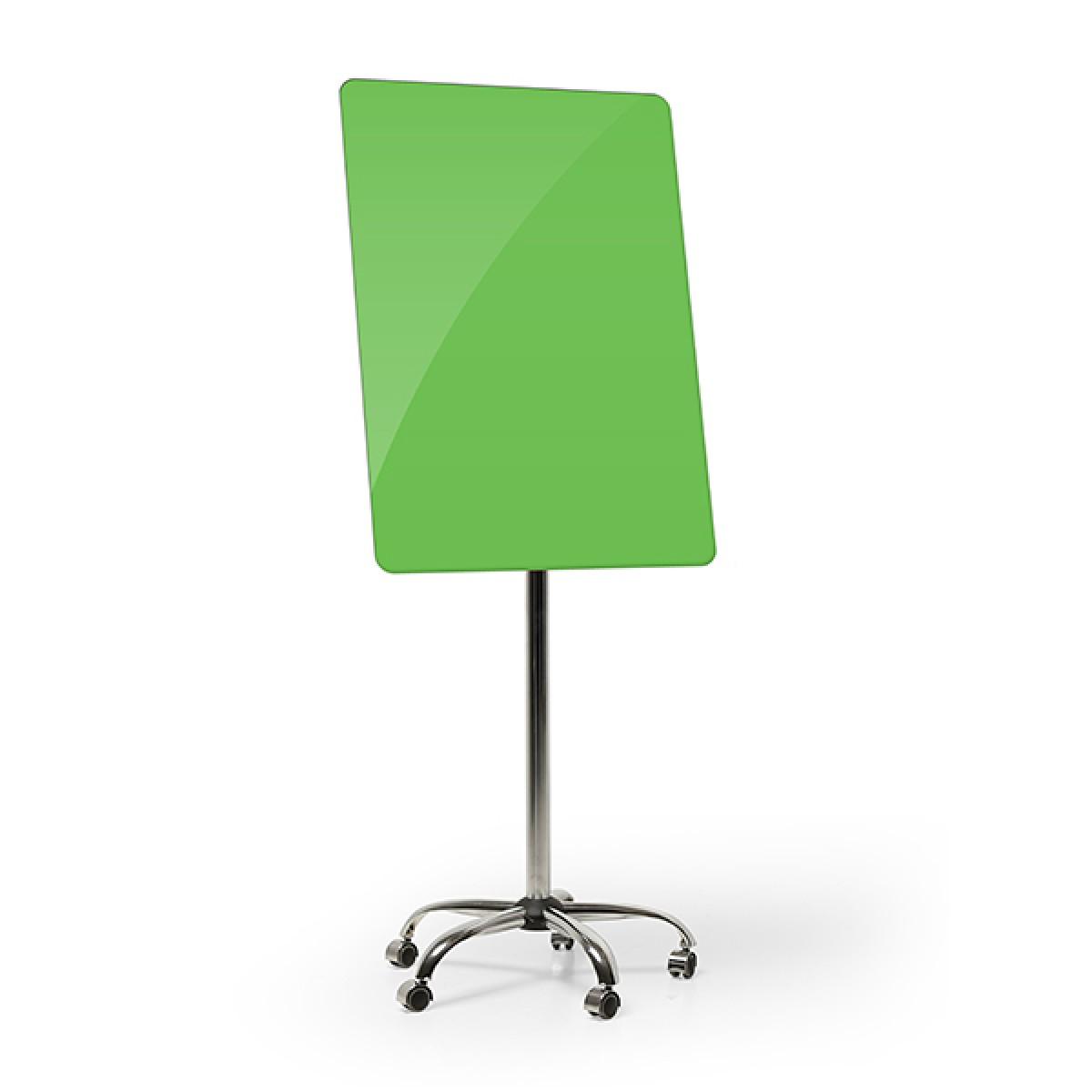 Фліпчарт мобільний скляний 700*1000 мм (зелений)