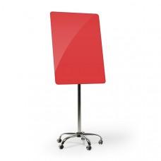 Флипчарт мобильный стеклянный (красный)