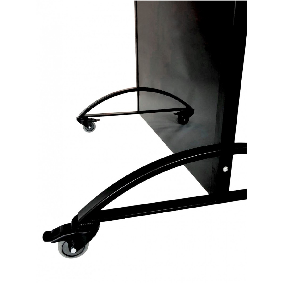Офисная стеклянная перегородка черная 2000х1080 мм