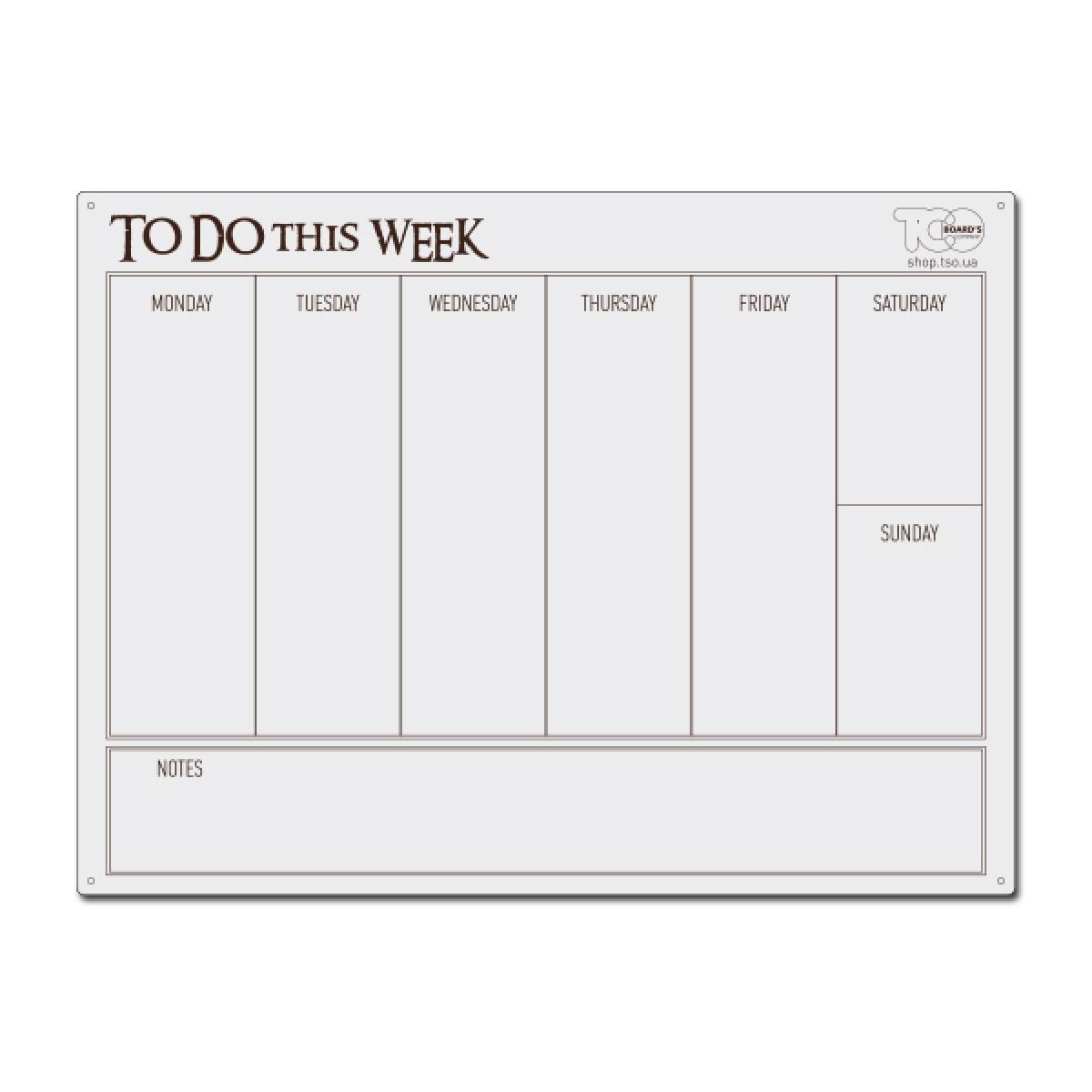"""Маркерний планер 600*450 мм """"To do this week"""""""