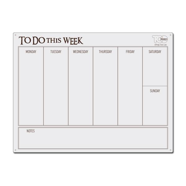 Планер To do this week, на англійській мові